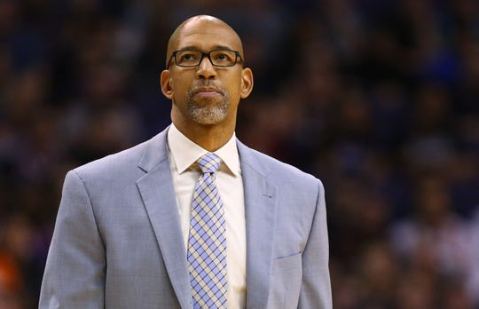 Suns coach Monty Williams reacts during his team's loss to the Heat on Nov. 7 at Talking Stick Resort Arena.