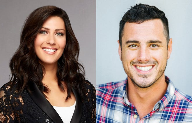 "Becca Kufrin and Ben Higgins will host a live version of dating show ""The Bachelor"" at Mesa Arts Center on Feb. 13, 2020."