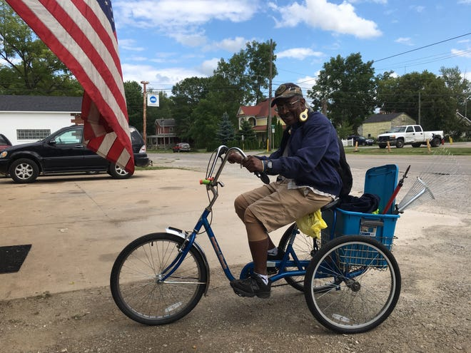 Howard Pickens, 67, served in the U.S. Army from 1972 to 1975. Angie and Chuck Myatt in Memphis, Michigan, are raising funds to get the veteran a new trike.