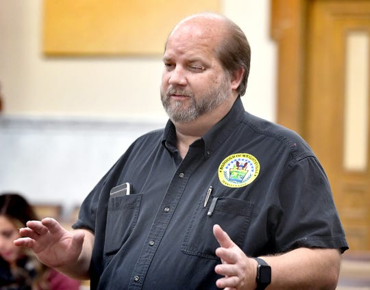 Eric White, who sought reelection on the Wrightsville Borough Council in Tuesday's election, said he wasn't yet sure if he held his seat, during Board of Elections meeting at the York County Commissioner Chambers Friday, November 8, 2019. Bill Kalina photo