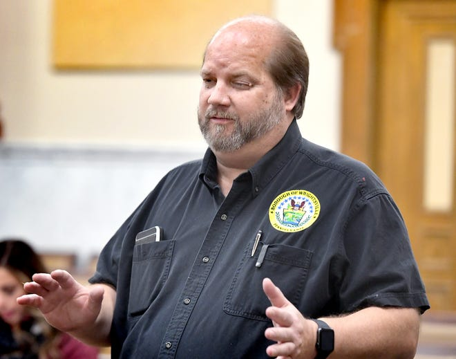 Eric White, who sought reelection onthe Wrightsville Borough Council in Tuesday's election, said he wasn't yet sure if he held his seat, during Board of Elections meeting at the York County Commissioner Chambers Friday, November 8, 2019. Bill Kalina photo