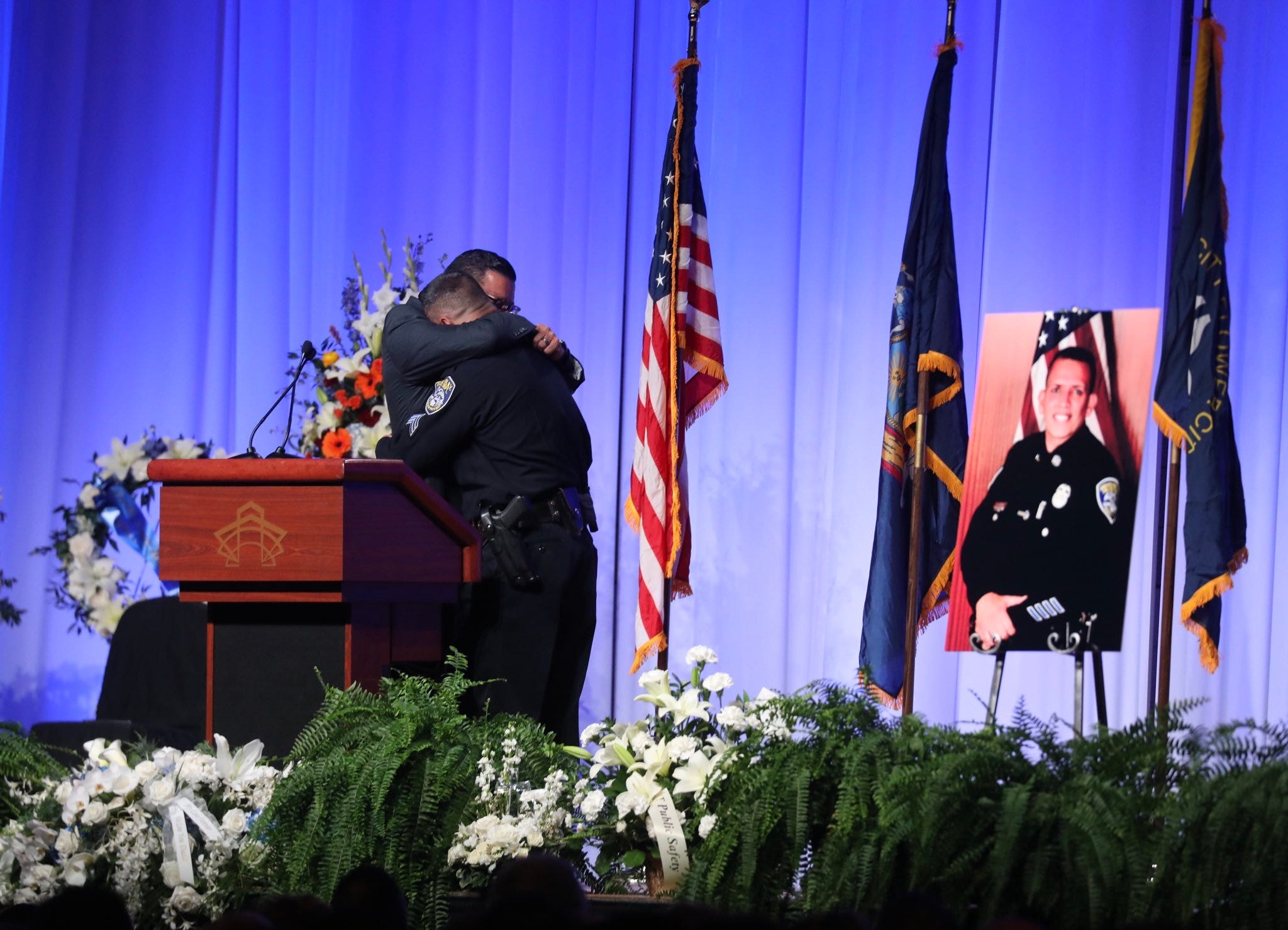 Images from Manny Ortiz memorial service