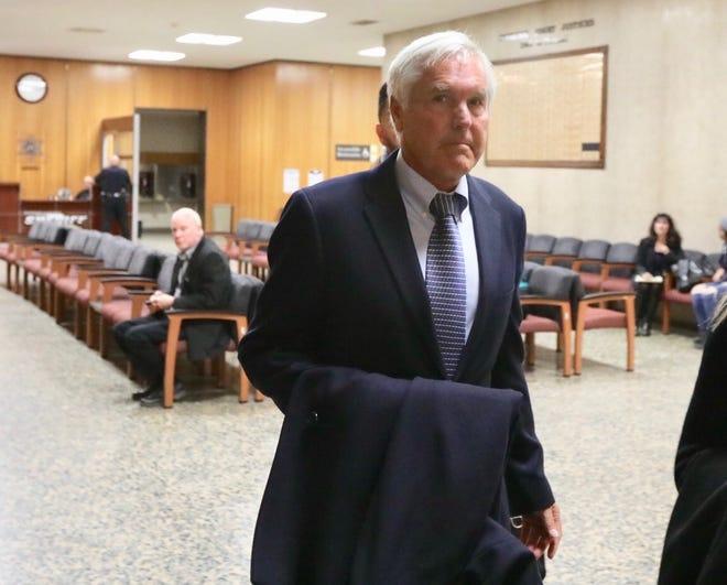 James Krauseneck arrives in court Friday morning, Nov. 8, 2019.