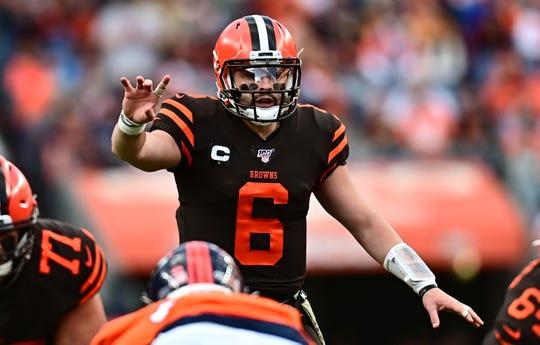 Struggling Cleveland quarterback Baker Mayfield takes on the Bills Sunday.