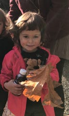 Iris Nix, 2, was found by a horseback rider and dog on Thursday in the Oregon wilderness near Molalla.