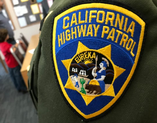 A California Highway Patrol patch.