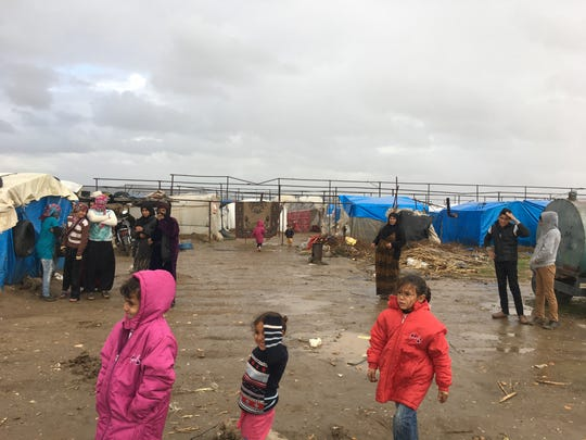 A photo of a Syrian refugee camp in Turkey.