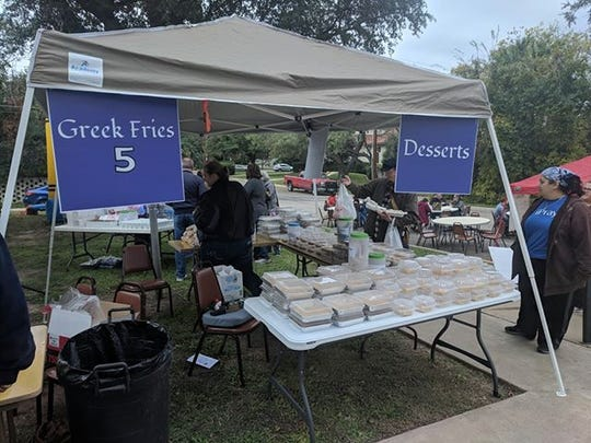 Greek food for sale at the Assumption of the Virgin Mary Orthodox Church Greek Fest.