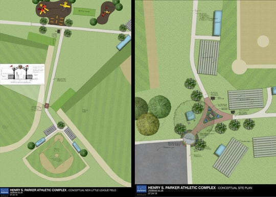 Conceptual plans for Wicomico's Field 7.5 project.