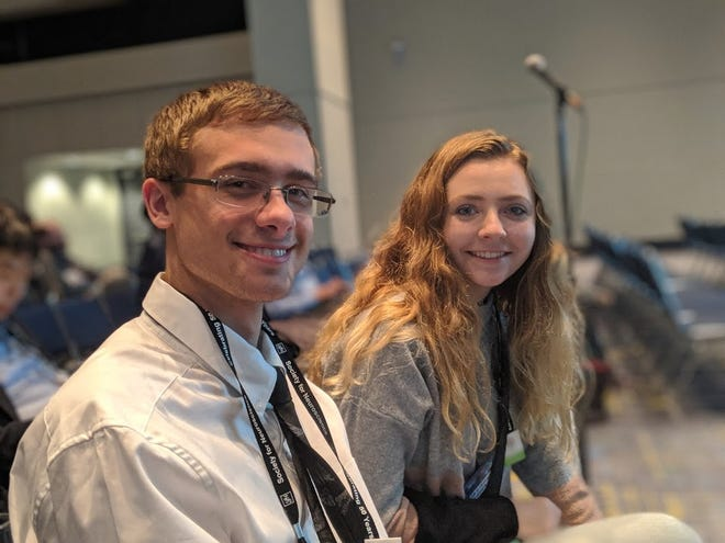 Lakeland University students Tegan Schneider and Mitchel Larsen presented their research at the 50th annual Society for Neuroscience (SfN) meeting in Chicago in October.