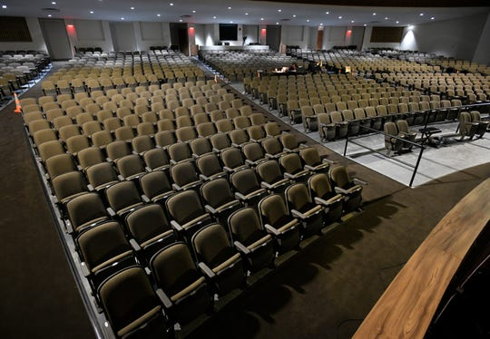 Shreveport's Riverview Theater upgrades included new seating.