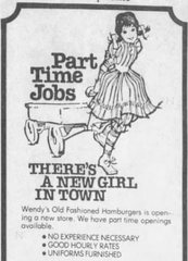 An advertisement for Wendy's from 1979.