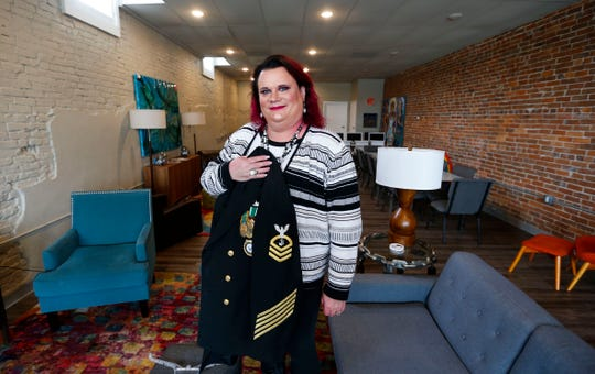 Mandy Monsees, a 24-year Navy veteran who also is transgender, will be marching as a representative of her company T-Mobile in the Veterans Day Parade in New York City.