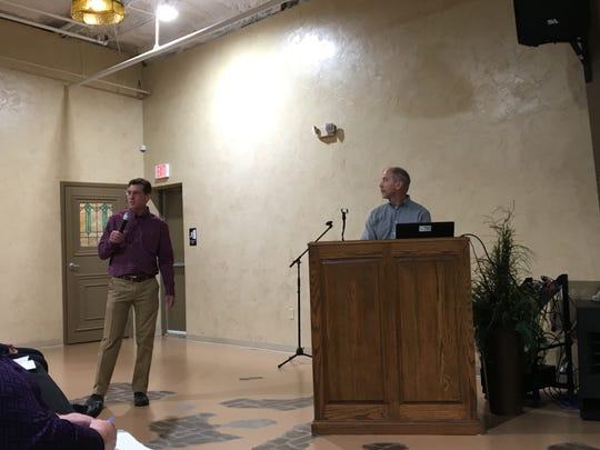 A subcontractor and an official with Northrop Grumman detailed the defense contractor's efforts to test and clean up TCE groundwater pollution in Greene County, Missouri at a meeting held at Relics Event Center Nov. 7, 2019.