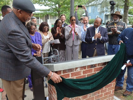 City leaders, school officials and the Florida secretary of state attended the unveiling in Frenchtown.
