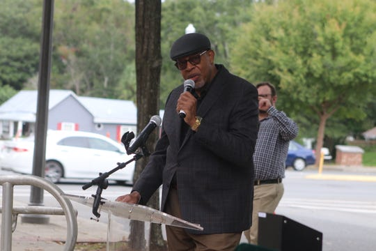 Fred Lee, 72, sings at the Frenchtown Historical Marker Trail unveiling Friday, Nov. 8. Lee grew up in the historic black neighborhood and is the son of the first African American police officer in Tallahassee, the late Fred Douglas Lee, Sr.