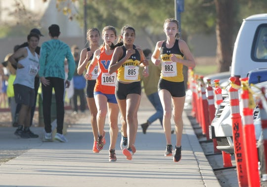 After winning its first state title, the Newbury Park High girls cross country team — with Archana Mohandas (885) and Fiona Hawkins  (882) helping lead the pack — will compete alongside the boys team at the nationals Saturday.