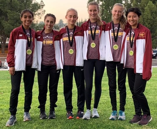 The Simi Valley High girls cross country team won the title at the Coastal Canyon League Cross Championships on Thursday.