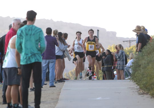 Jace Aschbrenner (897) is one of the top runners of the Newbury Park High boys cross country team, which has turned into a national powerhouse and will go for a national title Saturday.