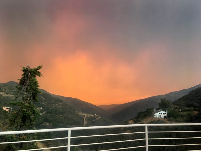 As the Woolsey Fire swept through the Santa Monica Mountains, the Koch family was forced to evacuate in November 2018.