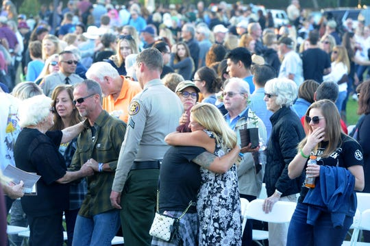 On Thursday, hundreds of people attended the dedication of the new Healing Garden in Thousand Oaks honoring victims and survivors of last year's mass shooting at the Borderline Bar & Grill.