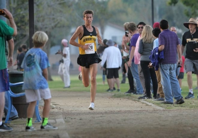 "Newbury Park High senior Nico Young, shown winning the Marmonte League title earlier this month, was made for running. ""He has everything from the perfect runner's build, the mindset, the aerobic tank. … I've never seen somebody like him,""  says Panthers coach Sean Brosnan."