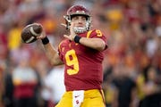 Freshman quarterback Kedon Slovis has been throwing it a lot lately for USC.