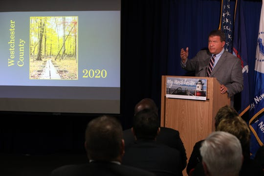 Westchester County Executive George Latimer unveils a $2.1 billion budget plan for 2020, Nov. 8, 2019 in White Plains.