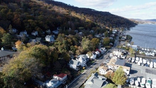 Drone photo of Piermont Ave. in Piermont Nov. 8, 2019.