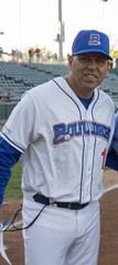 Kevin Baez is returning as manager of the Rockland Boulders