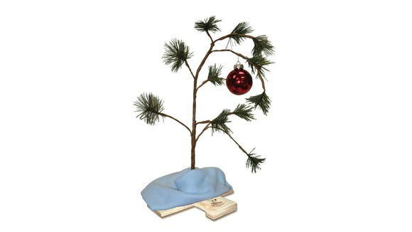 This replica Charlie Brown Christmas tree is a sentimental choice around the holidays.