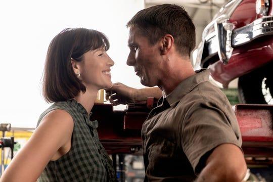 """Mollie Miles (Caitriona Balfe) roots for her racer husband Ken (Christian Bale) in """"Ford v Ferrari."""""""