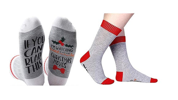 These cute socks also make great stocking stuffers.