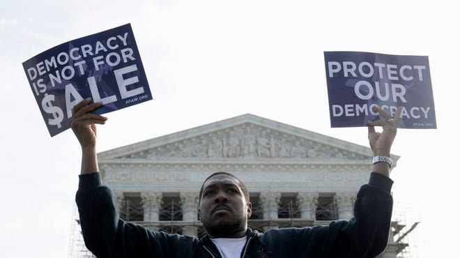 The Supreme Court last considered a major campaign finance case in 2013, when protesters demonstrated outside.  Now it has agreed to hear a new case on contribution limits.