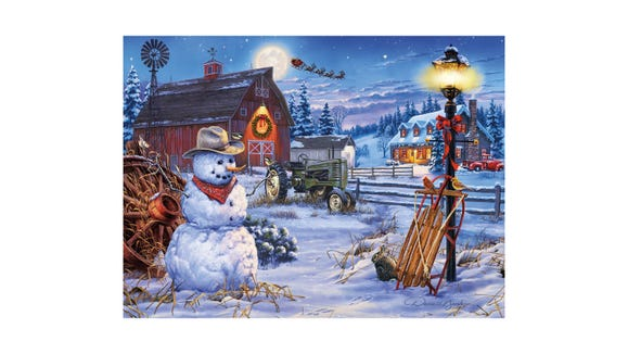 This jigsaw puzzle can help the family gather around during the holidays.