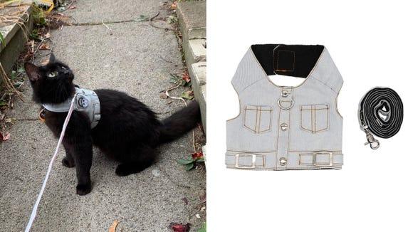 Best cat gifts: Denim Vest