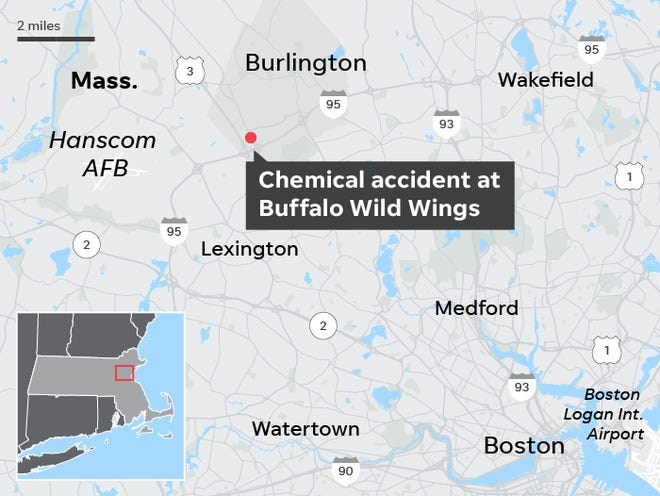 Buffalo Wild Wings employee s, others sick after chemical ... on petsmart map, burger king map, applebee's map, quiznos map, dairy queen map, chick-fil-a map,