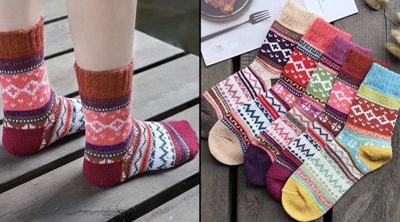 Best gifts under $10 2019: Women's Vintage Cozy Crew Socks (5-pack)