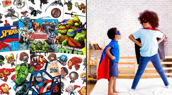 Best gifts under $10 2019: Super Hero Temporary Tattoos