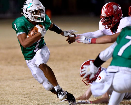 Jevon Williams ran for seven touchdowns in Friday's third-round playoff against Wheeler.