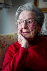 """Margaret Swicegood Fort, who will turn 100 next week, in her home in Arden November 6, 2019. """"After the Depression hit, there were people who were just reduced to nothing,"""" Fort said. """"As a kid to see all this glamour and big living, and then as an adult to see them have far less — it was really something."""""""