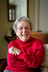 """Margaret Swicegood Fort, who will turn 100 next week, in her home in Arden November 6, 2019. """"I don't feel old. Iam as shocked as anyone about it,"""" Fort said."""