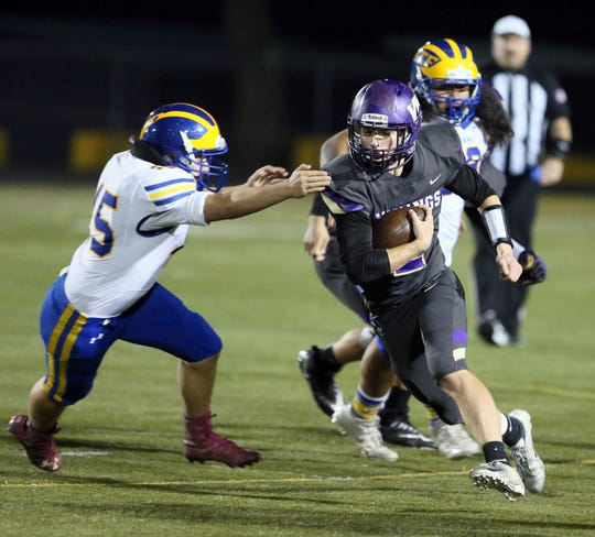 North Kitsap's Colton Bower was named most valuable football player in the Olympic League 2A this fall.