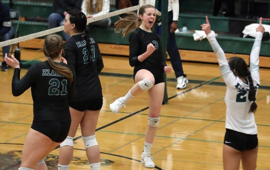 Klahowya's Rachel Bailey (3) was named Olympic League 1A most valuable player in volleyball.