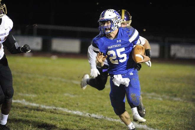 Southeastern quarterback Lane Ruby runs the ball during a 40-3 win over Dayton Christian in the D-VI Regional Quarterfinals on Friday, Nov. 8, 2019 at Southeastern High School in Chillicothe, Ohio. Ruby announced via Twitter on Thursday that he has committed to play college football at Indiana Wesleyan University.