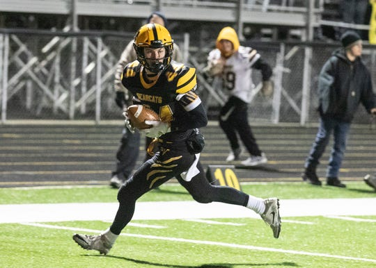 Paint Valley's Cruz McFadden makes a touchdown during a 35-28 loss to Grandview Heights in a Division VI regional quarterfinal game on Friday, Nov. 8, 2019 in Bainbridge, Ohio.