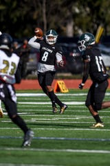 Saint Joe's football game against Paramus Catholic in Metuchen on Saturday November 9, 2019. Saint Joe's #8 Tyree Ford with the ball.