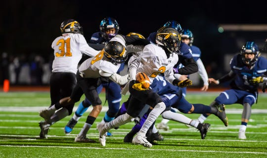 Piscataway's Sherrod Cooper runs against West Orange on Nov. 8, 2019