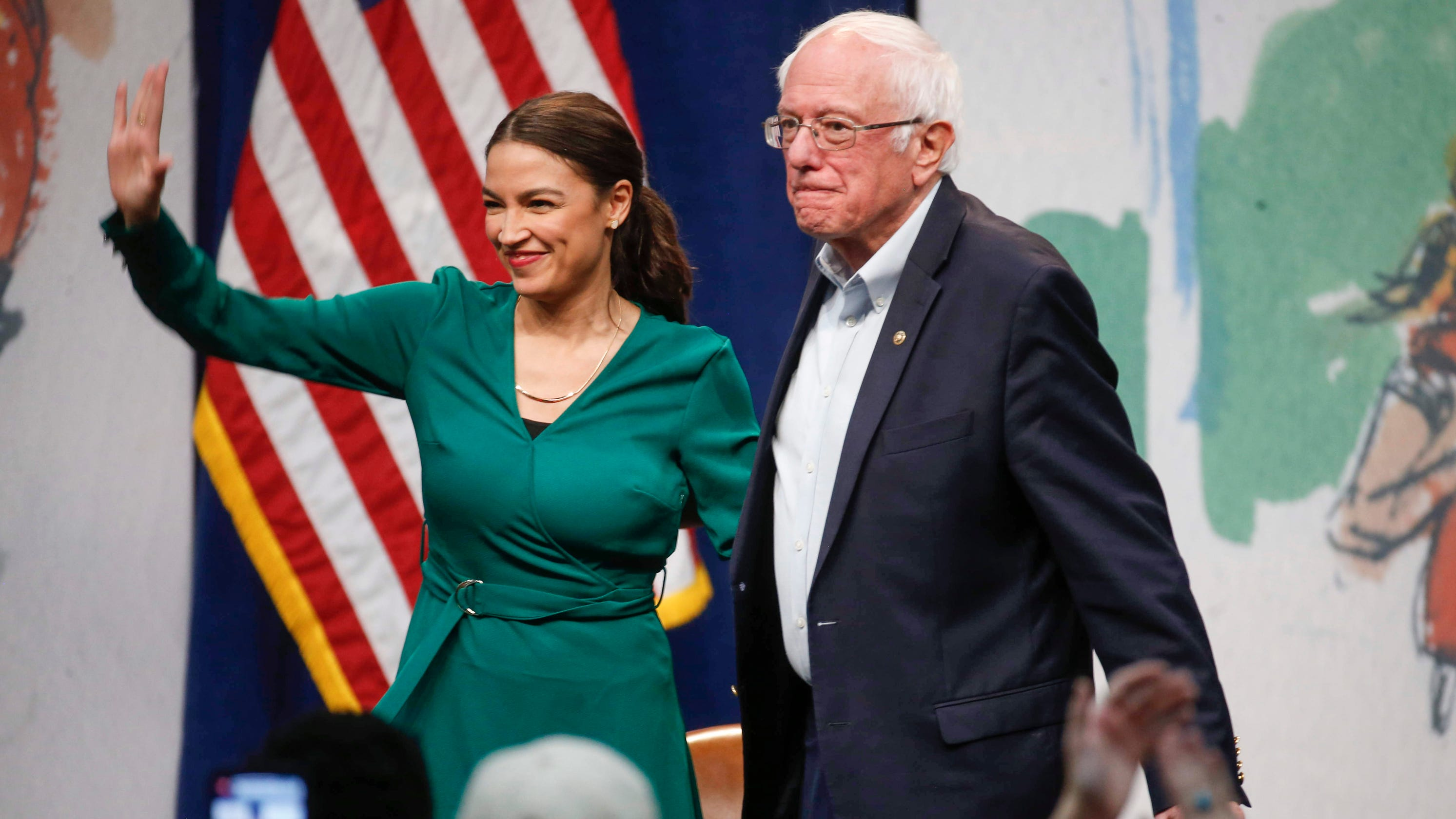 Image result for AOC BERNIE