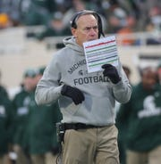 Michigan State Spartans coach Mark Dantonio during the first half against Illinois on Saturday, Nov. 9, 2019 at Spartan Stadium.